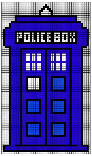 Ravelry: Doctor Who TARDIS-blanket pattern by kejsarinna Astrid For Peter's vest