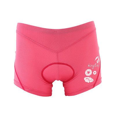 Summer Cool Women Cycling Bike Bicycle Underwear Shorts With Silicone Pad Pink