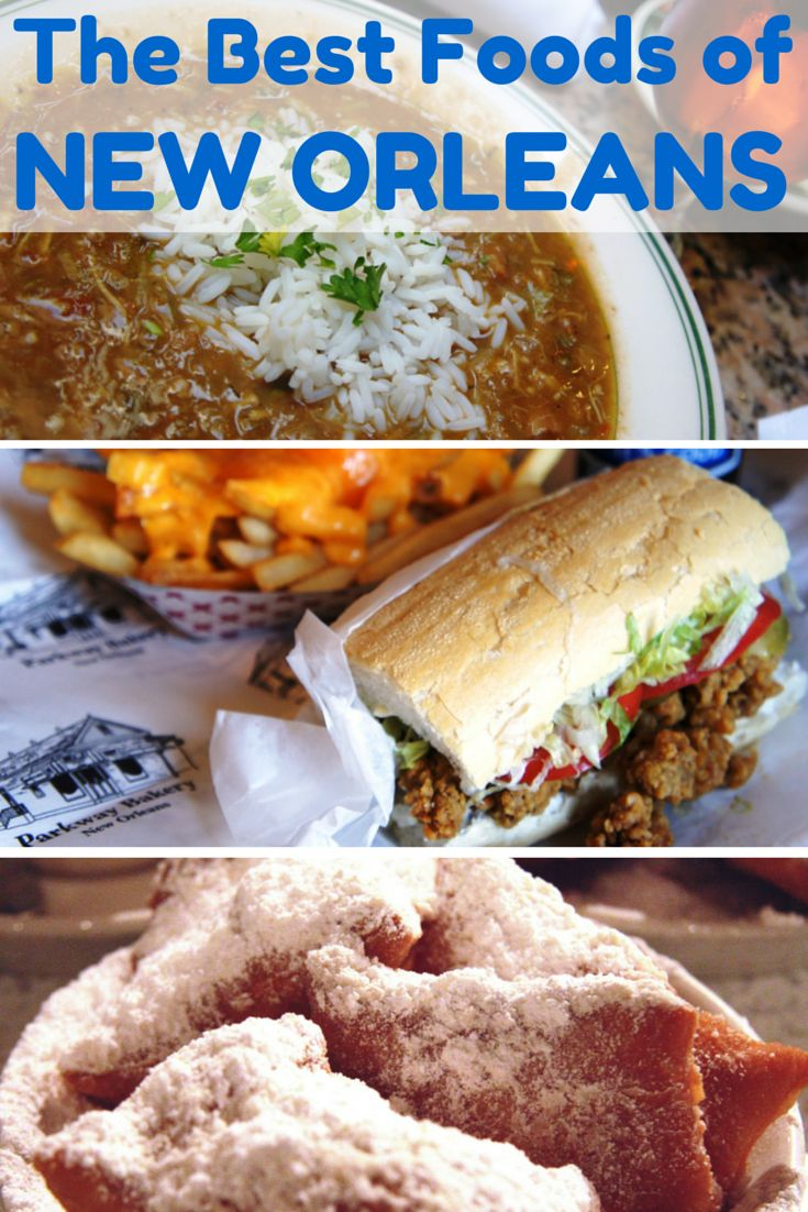 15 of the best traditional foods travelers must try when visiting New Orleans. #NewOrleans #food #travel