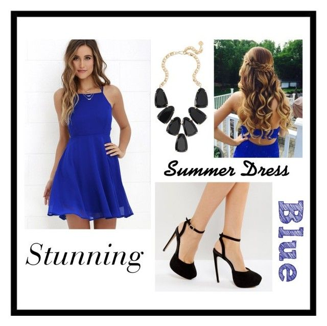 """""""Summer Dress"""" by mad-fred ❤ liked on Polyvore featuring LULUS, ASOS and Kendra Scott"""