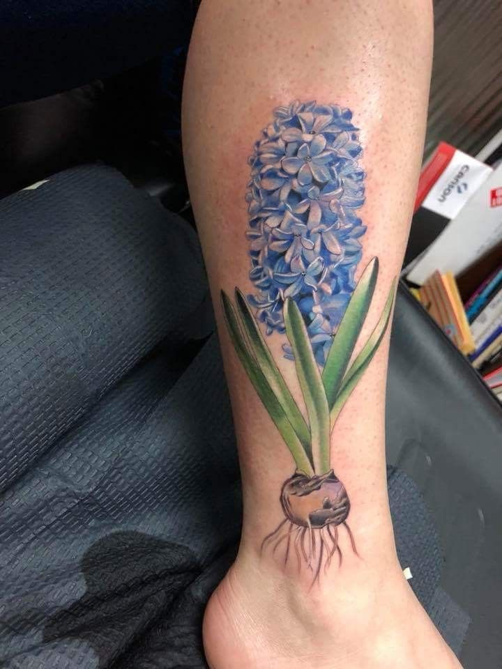 Hyacinth Flower Tattoo : hyacinth, flower, tattoo, Fancy, Hyacinth, Afternoon!, Cross, Eyed,, Ready, Donut, Worth, It💗, Thanks, Leea…, Tattoos,, Tattoo, Designs,, Dreamcatcher