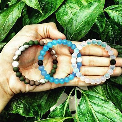 New Lokai Bracelet Mud from Dead Sea, water from MT Everest Silicone Size S M L