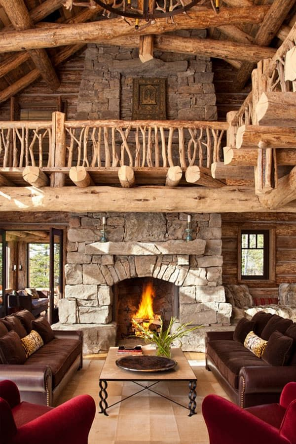 47 Extremely cozy and rustic cabin style living rooms ...
