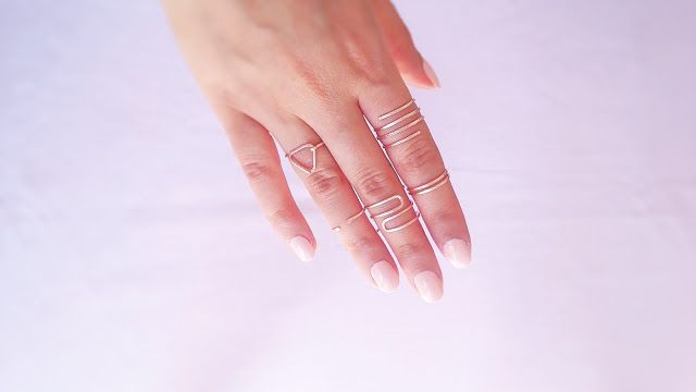 DIY wire rings | Easy handmade wire rings | Easy minimal wire rings tutorial