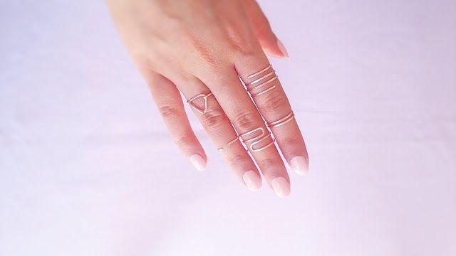 DIY wire rings | Easy handmade wire rings | Easy minimal wire rings tutorial