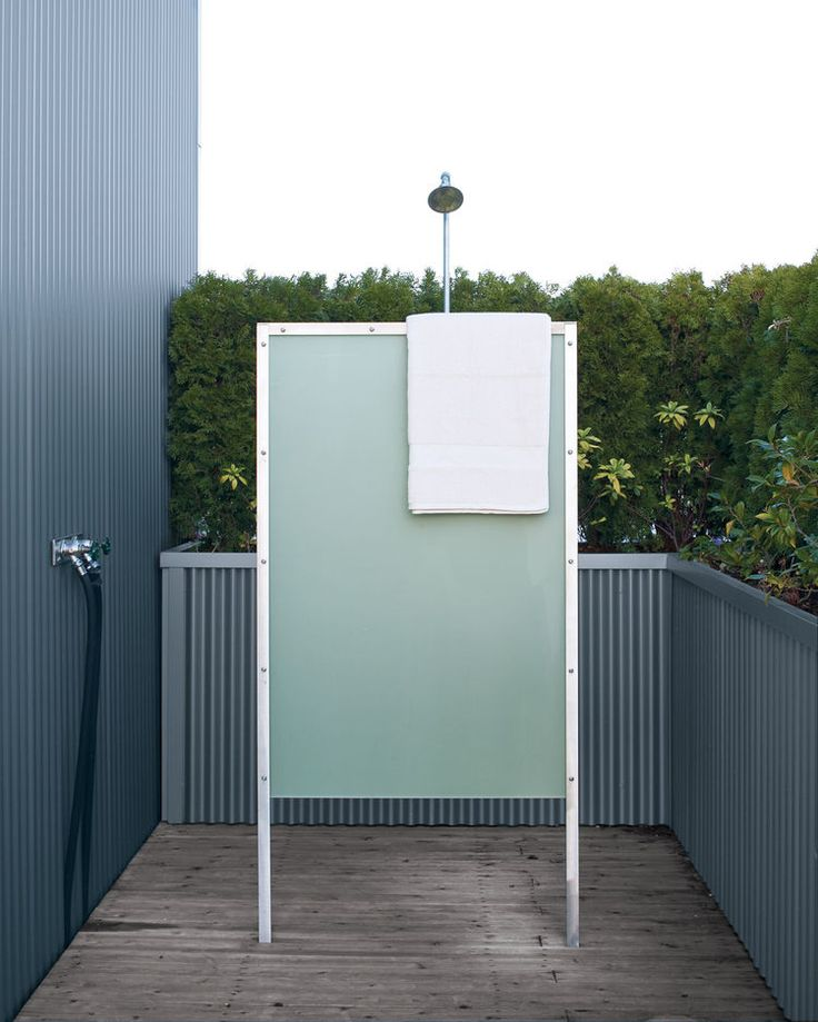The Homeu0027s Exterior Fittings, Like The Outdoor Shower, Offer Modern  Comforts.