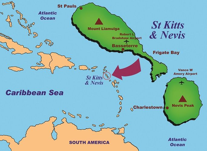 Map of St Kitts and Nevis in the Caribbean in 2019 | Nevis ... Saint Kitts And Nevis Maps United States on albania map, lesotho map, yisrael map, south georgia and the south sandwich islands map, montenegro map, singapore map, virgin islands map, serbia map, nevis island map, monaco map, tokelau map, senegal map, caribbean map, redonda map, ukraine map, slovenia map, timor-leste map, anglosphere map, nevis on world map, svalbard and jan mayen map,