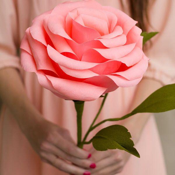 Amazing Fabriquer Rose En Papier #1: Faire Une Rose En Papier Crépon Plus