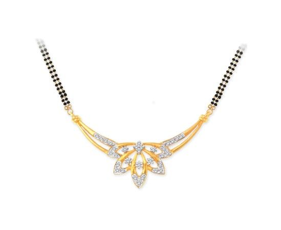 Beautiful Diamond Mangalsutra 40057N from KISNA #diamond #mangalsutra #jewellery
