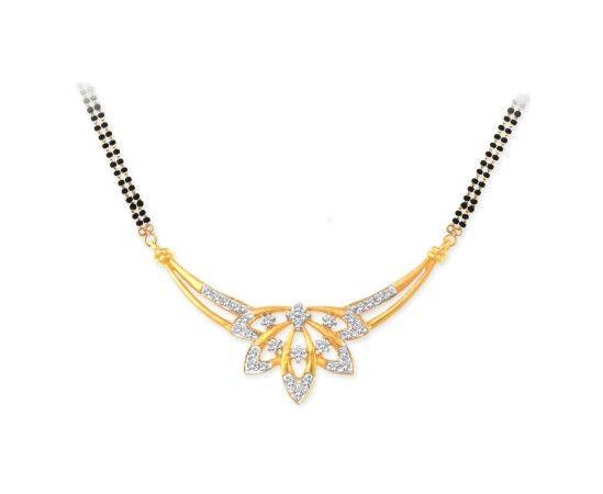 Beautiful Diamond Mangalsutra 40057N from KISNA #diamond #mangalsutra #jewellery