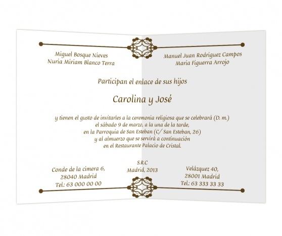 Rosetón #invitaciones #boda