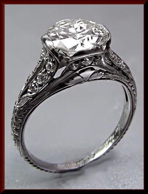 Platinum Vintage Art Deco 1920's Diamond by AntiqueJewelryNyc, $12500.00 - I love this!