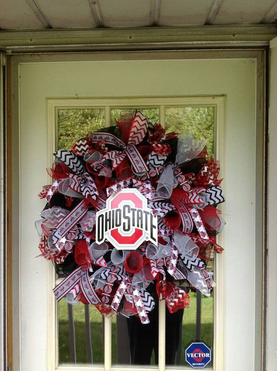 Ohio State wreath Ohio State deco mesh wreath Ohio State