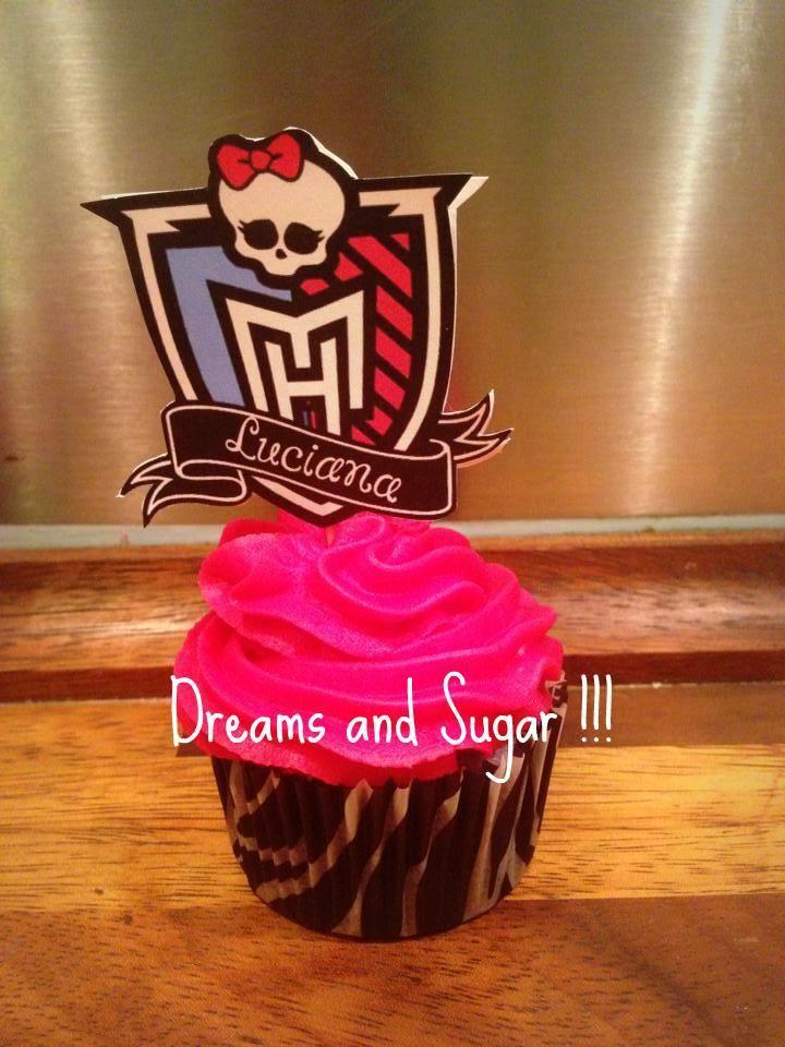luciana's mondter high cupcake