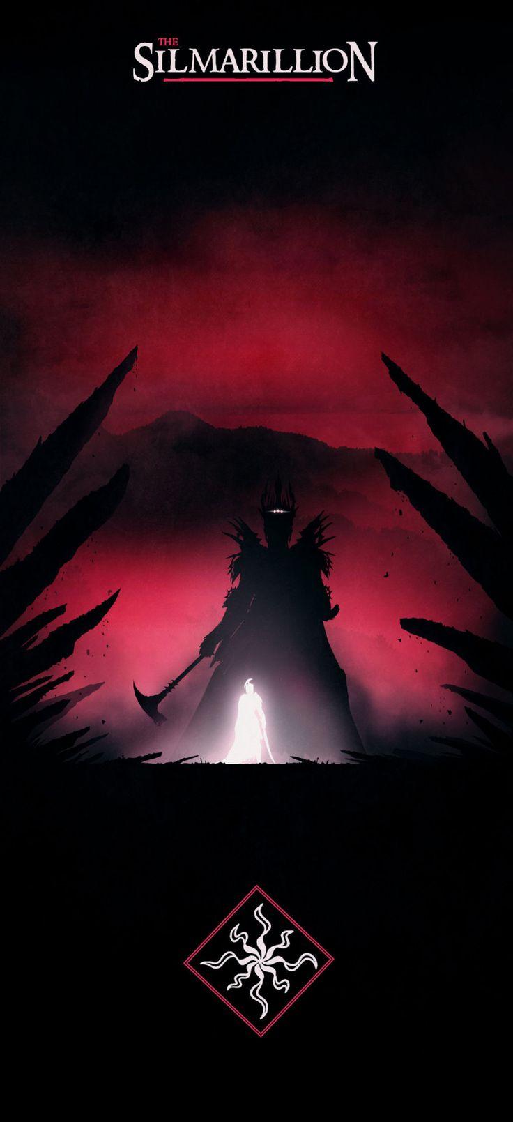 Fingolfin, el rey elfo retando a Morgoth a salir .
