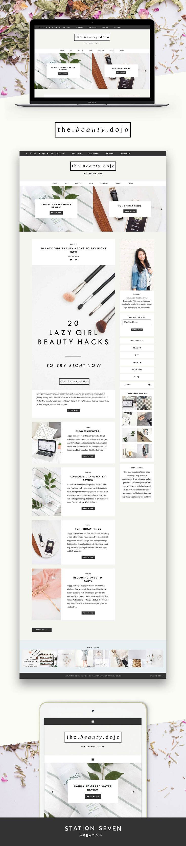 Simple and cozy site by The Beauty Dojo running on Station Seven's WordPress…