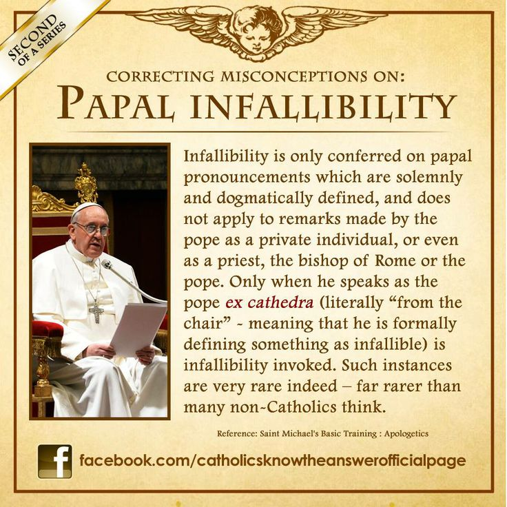 "31 MAY 2013 - Something on Papal Infallibility (SECOND of a Series): (Matt 23:1-3) (1)Jesus spoke to the multitudes and His disciples, (2) saying: ""The scribes and the Pharisees sit in Moses' seat. (3) ""Therefore WHATEVER THEY TELL YOU to observe, THAT OBSERVE and DO BUT do NOT DO according to their works; for they...See More"