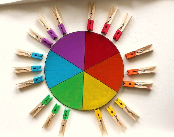 Color matching activity wheel
