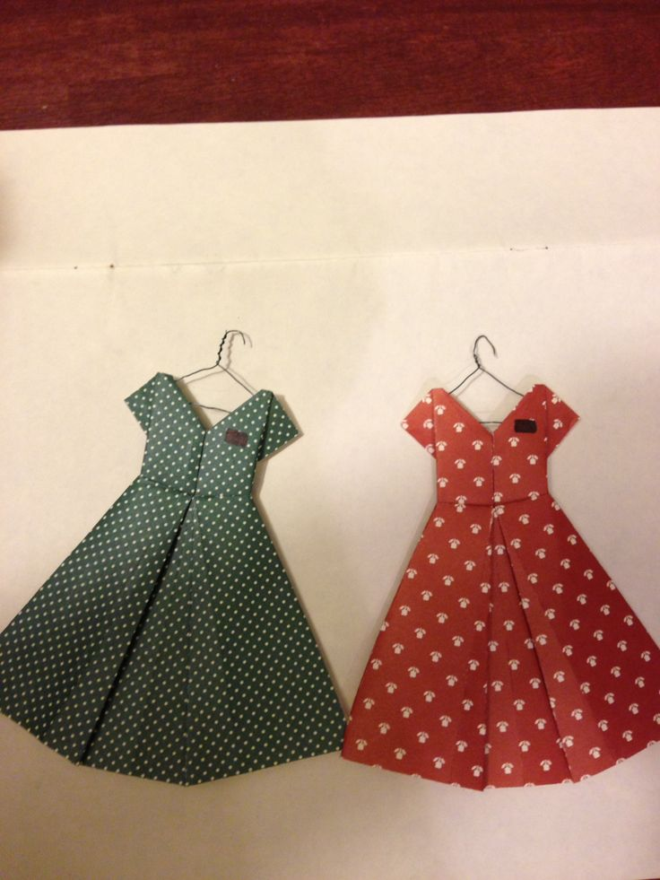My version of origami dress Christmas ornaments for my sister missionary and her companion :)
