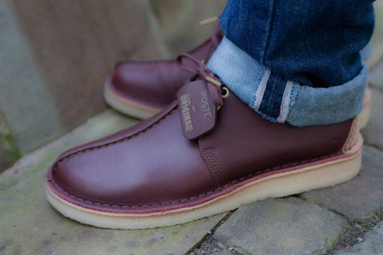 flynn desert shoe men | Poste x Clarks 'Burgundy' Desert Boot Desert Trek Shoes-03
