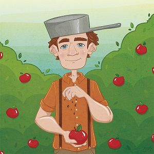 "Johnny Appleseed Day: What does the story of Johnny Appleseed have to do with Jesus? Listen as Joni shares a ""happy song"" that speaks about God's grace."