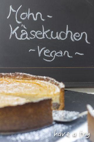 Mohn-Käsekuchen, vegan