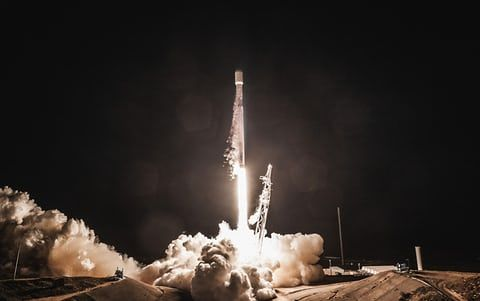 A Falcon 9 rocket is launched carrying Spain's PAZ radar-imaging satellite. Vandenberg, US