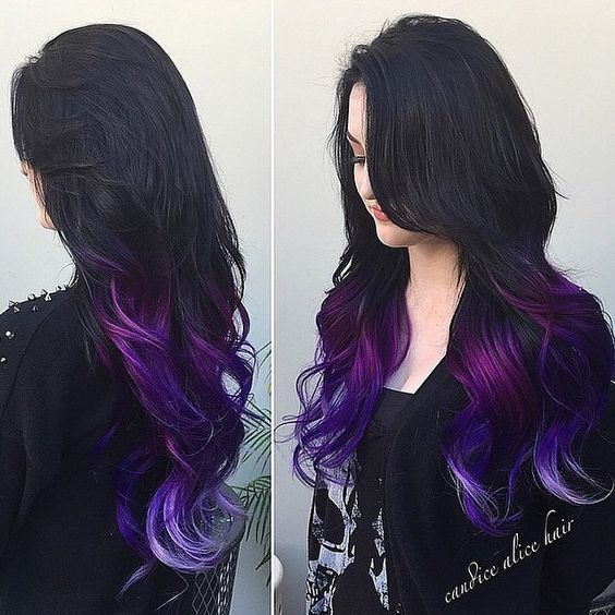 angel_of_colour's photo on Instagram // perfect purple dip-dye from @angel_of_colour: