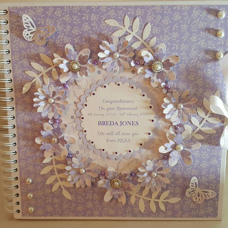 Lavender floral wreath scrapbook cover