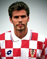 Zvonimir Boban, con la maglia della Nazionale Croata : è già leggenda.