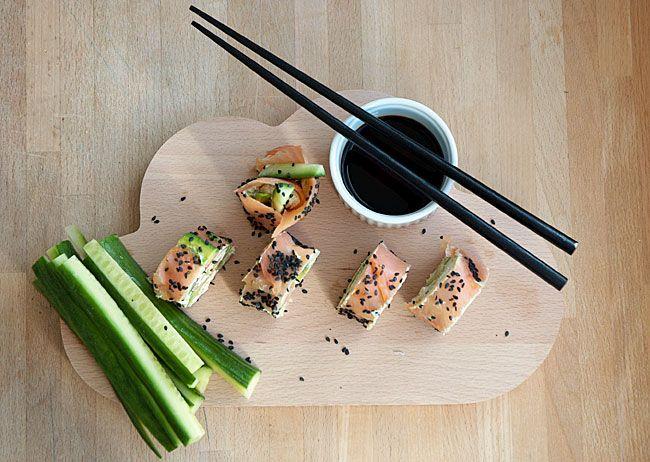 Lakseruller ala sushi