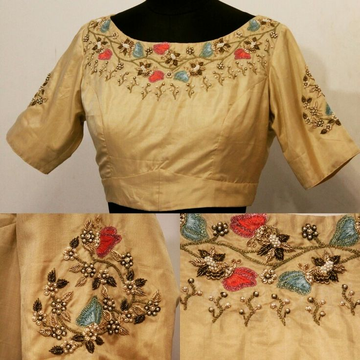 More of butterfly embroidered blouse! For Queries reach us at 044-42179088 / Whatsapp: 9789903599 Address: 21 Valmiki street, thiruvanmyur #zardosiwork #zari #pinkandbluebutterflies #pearlwork #silksareeblouse #simpleblousework #sareeblouses #boatneckblouse #yuti #YUTIDesignerHouse #blousebyYUTIDesignerhouse #yutiforbrides #yutiforbridesmaids #goldblouse #chennaidesigner #chennaifashionhouse