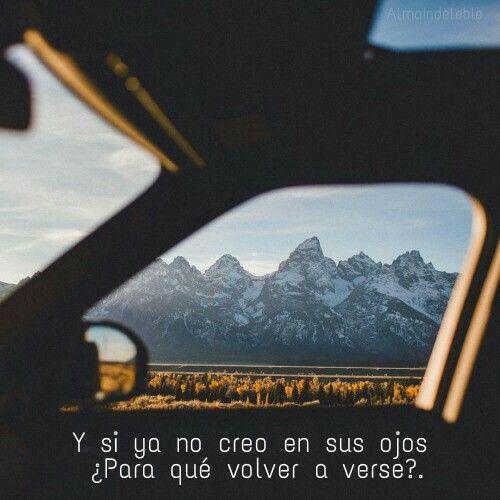 Y si ya no creo en sus ojos ¿Para qué volver a verse?  #LosPetitFellas - Manual de Instrucciones Para Conducir De Noche