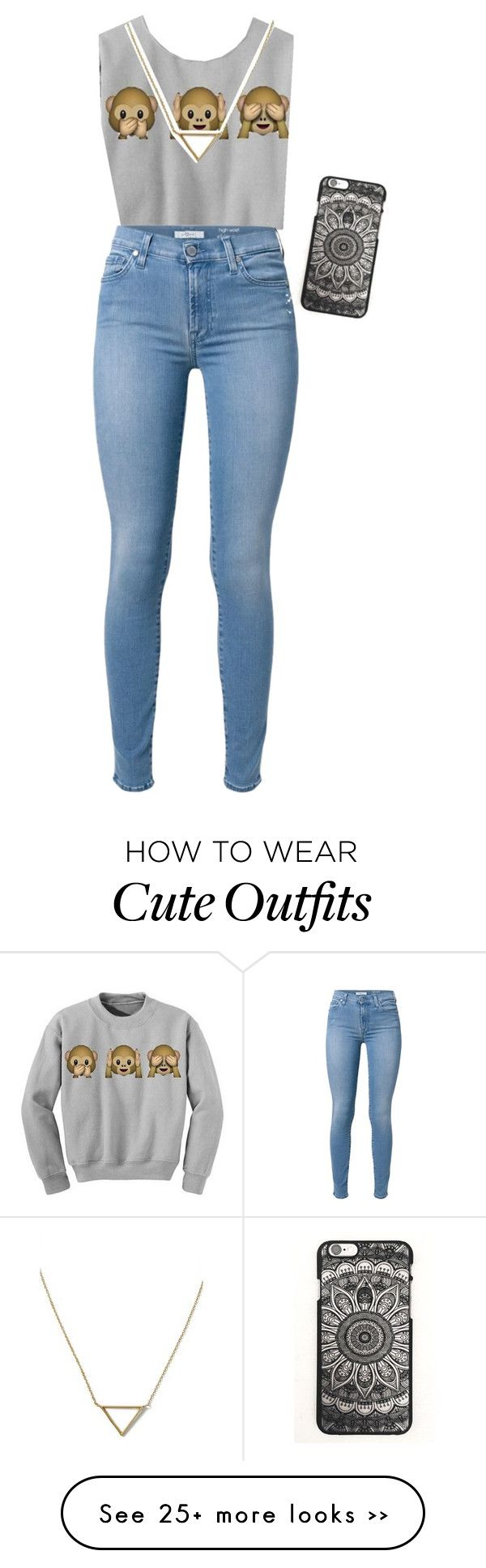 """A school outfit that's got style"" by annafiamingo on Polyvore featuring 7 For All Mankind and Banana Republic"