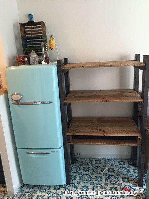 レンジラック兼食器棚を作る〜その3 組み立て編  なんとなくDIY