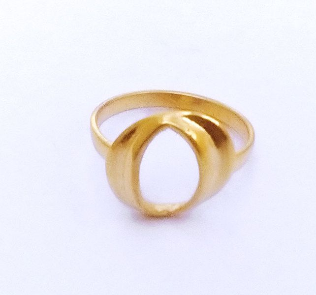 Fashion Modern Gold Ring, Cut Out Gold Ring, Gold Tone Hole Ring, Greek Jewelry, Fashion Jewelry, Minimal Gift , Trendy Ring, All Sizes Ring by profoundgarden on Etsy