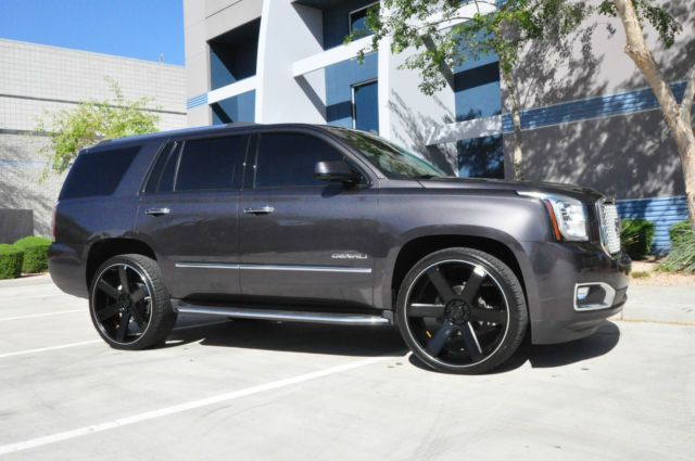 Charcoal Grey Yukon Denali Black Custom Wheels Buick Gmc Gmc