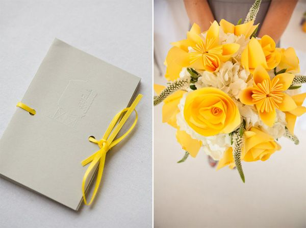 Love the paper flowers with the real flowers