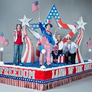 land of the free complete patriotic parade float kit for 4th of july - Float Decorations