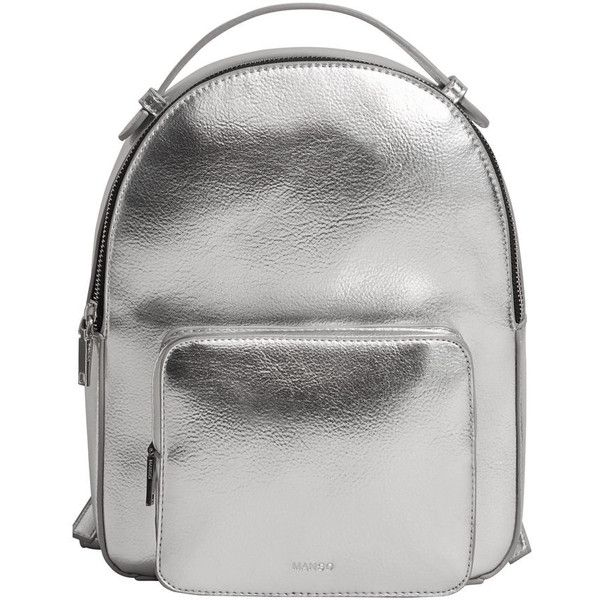 Zip Pebbled Backpack (€35) ❤ liked on Polyvore featuring bags, backpacks, zipper bag, daypack bag, zipper backpack, backpack bags and pebbled-leather bags