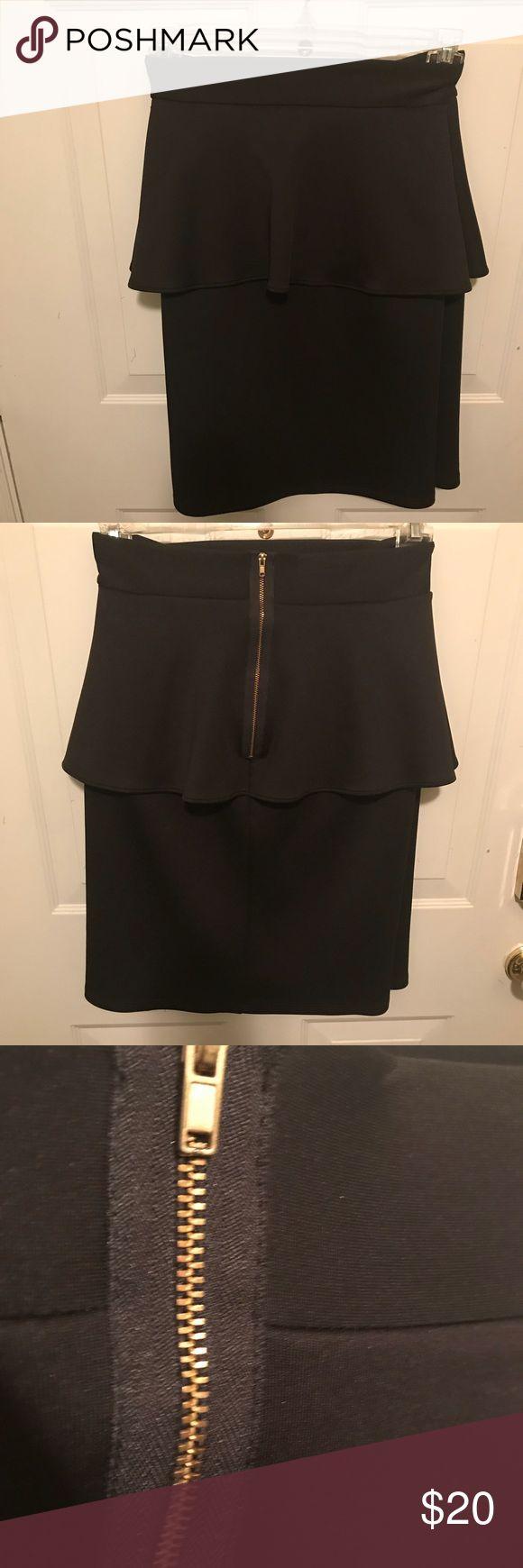 Ashley Stewart Peplum Skirt Ashley Stewart Black Peplum Skirt- with gold zipper in back -excellent condition-runs big -size 24 Ashley Stewart Skirts Pencil