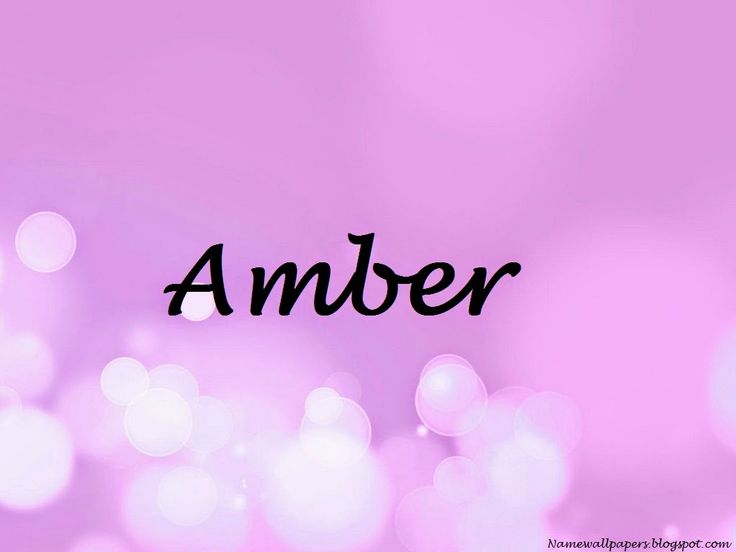Amber Name Wallpapers Ambar