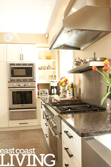 We love this functional kitchen. Featured in the Summer 2012 issue of East Coast Living. Photo by Joanna Nickerson, Studio Rouge