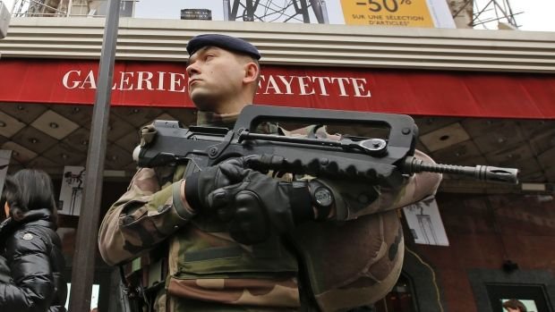 Tens of thousands of police and other security forces are guarding places of worship, schools and other sites around France. Two-thousand additional police will be deployed Saturday.
