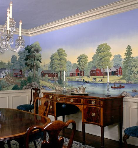 dining room mural Dining room murals, Mural, Scenic
