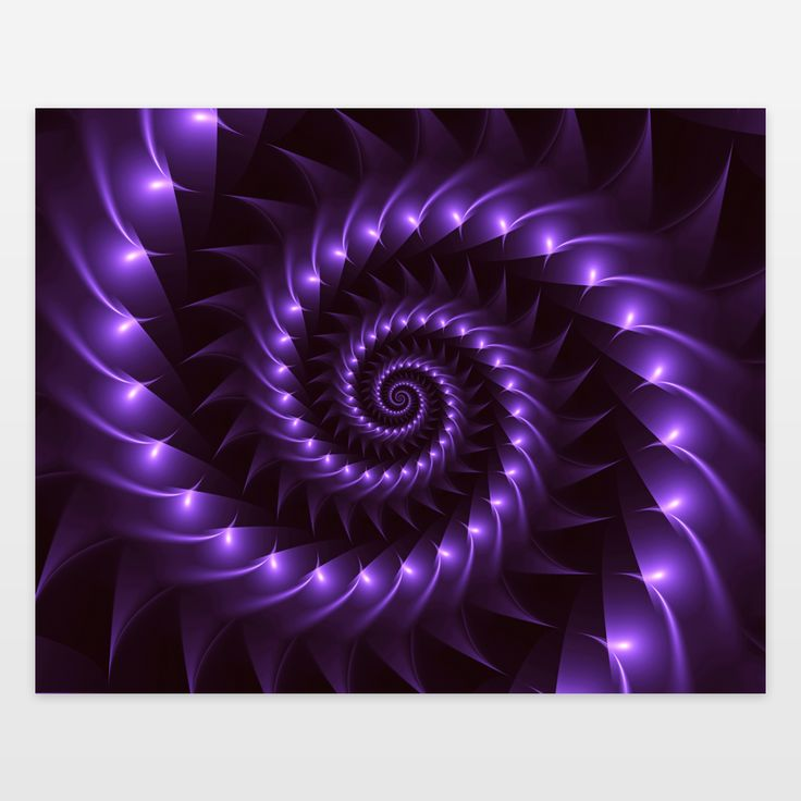 Fun Indie Art from BoomBoomPrints.com! https://www.boomboomprints.com/Product/kittybitty/Glossy_Purple_Spiral/Art_Prints/8x10/