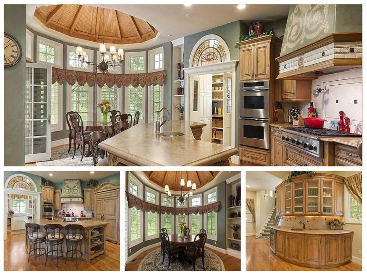 Castle luxury kitchen this elegant french country home for Luxury french kitchen