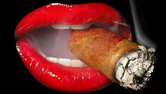 My life!  I love a big cigar every now and then but try not to let it mess up my lipstick!