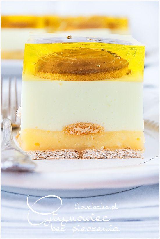 Lemon cake - no bake / Cytrynowiec ilovebake.pl #lemon #recipes #cake