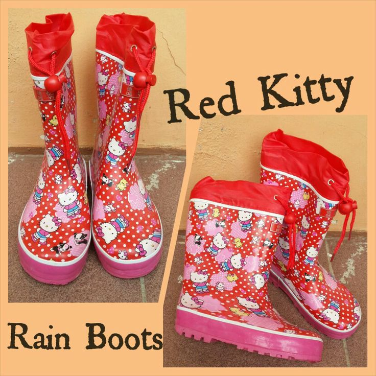 READY STOCK KIDS RAIN BOOTS KODE : Red Kitty PRICE : Rp.175.000,- AVAILABLE SIZE (insole) :  - Size 30 (20,5cm) - Size 32 (21,5cm) - Size 33 (22cm)  FOR ORDER : SMS/WHATSAPP 087777111986 PIN BB 766A6420  #pusat #sepatu #boots #anak #retail #grosir #kids #rain #shoes #import #rubber #karet #hujan #anti #air #red #merah #kitty #tali #serut #mayorishop #bogor #online #ready #stock